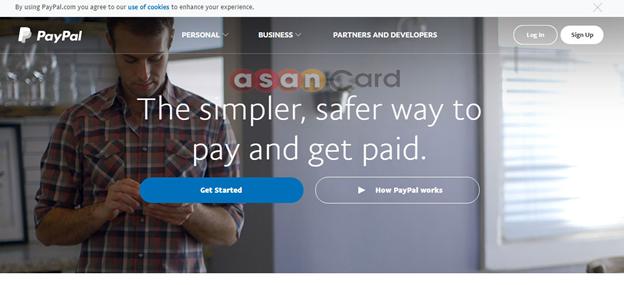 آسان کارت - راهنمای افتتاح حساب پی پال PayPal و verify کردن آن با مسترکارت | آسان کارت
