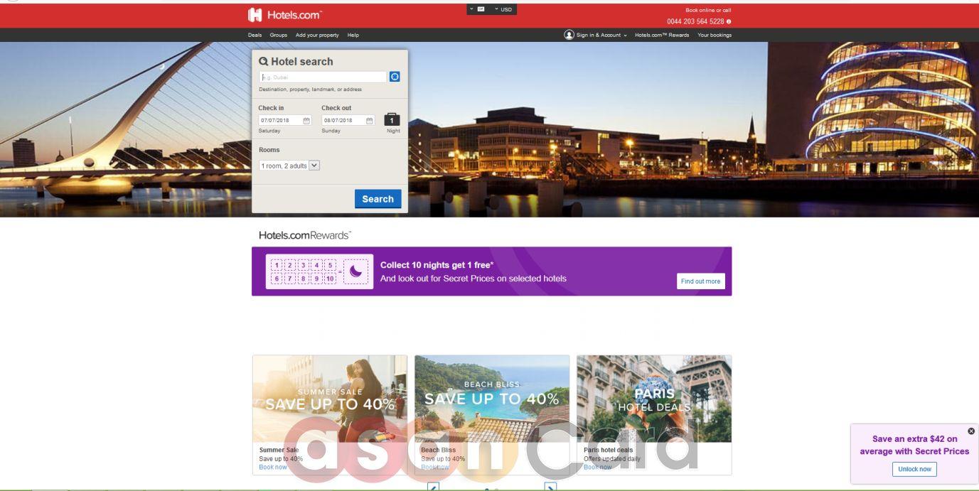 خرید و رزرواسیون هتل Hotels.com | آسان کارت