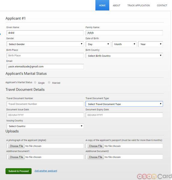تکمیل فرم ویزای توریستی عمان | آسان کارت