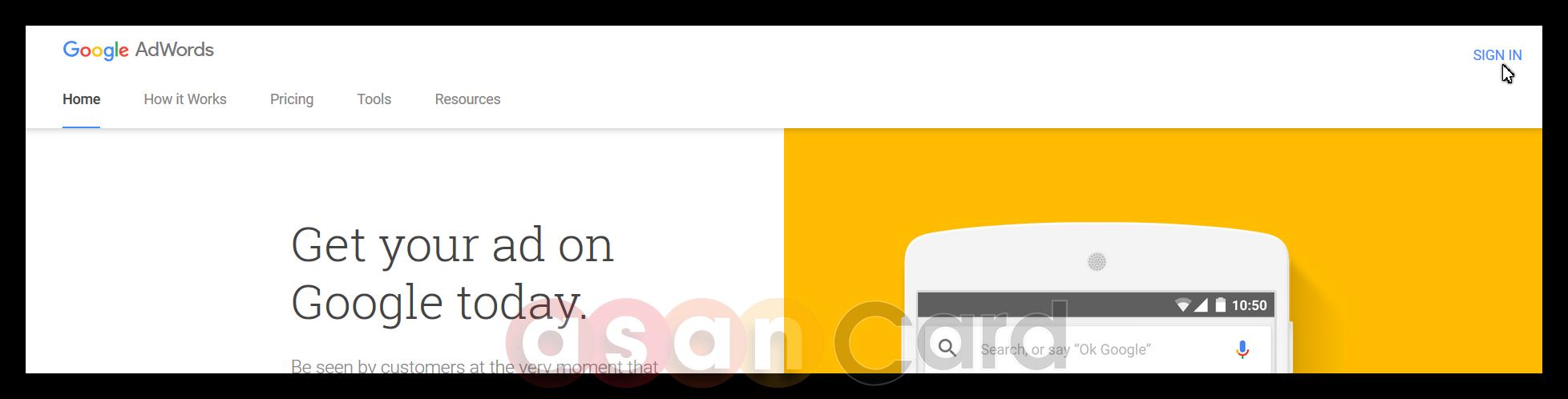 آموزش کامل تنظیمات گوگل ادوردز | آسان کارت
