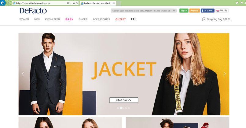 خرید اینترنتی از دیفاکتو Defacto | آسان کارت